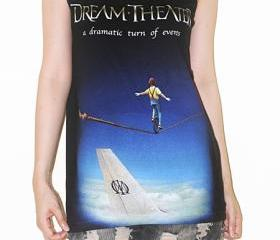 Dream Theater A Dramatic Turn Of Events Singer Music Shirt Tank Top Vest Tunic Black Singlet Sleeveless Women Shirt Indie Metal Hard Rock T-Shirt Size M