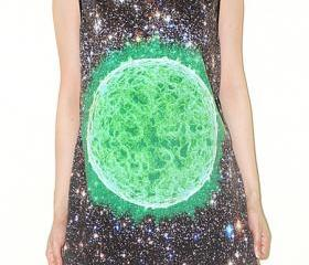 Deep Green Sun Cosmos Galaxy Universe Space Star Cluster Singlet Tank Top Sleeveless Art Photo Transfer Rock T-Shirt Size L