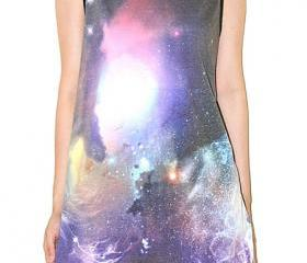 Nebula Star Cluster Universe Galaxy Space Black Tank Top Singlet Sleeveless Photo Transfer Punk Rock T-Shirt Size L
